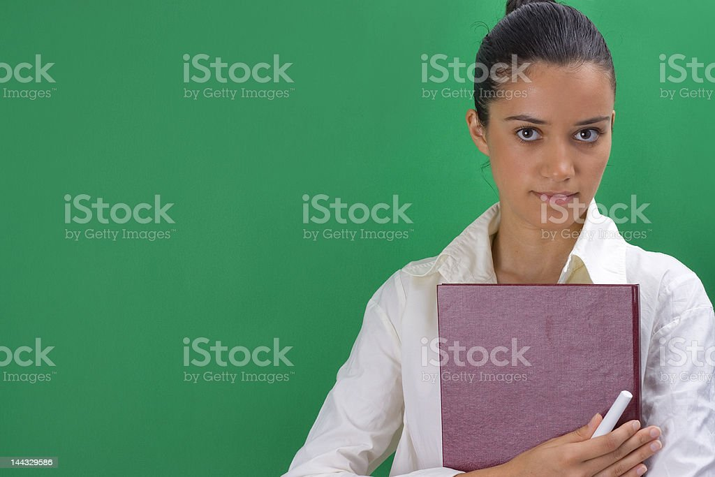 young beautiful teacher royalty-free stock photo