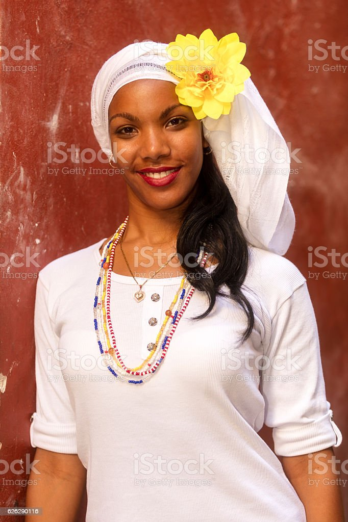 Young, Beautiful Woman, Havana, Cuba stock photo