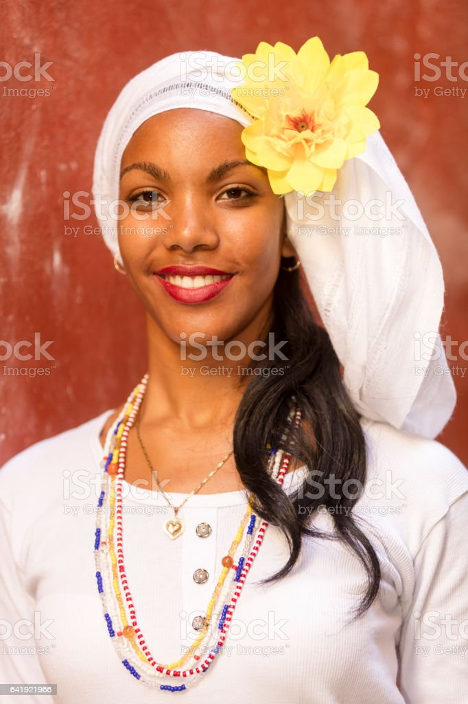 Young Beautiful Woman, Havana, Cuba stock photo