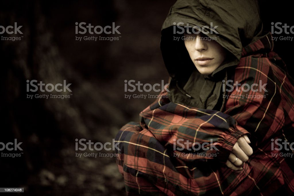 Young Beautiful Woman in the Woods royalty-free stock photo