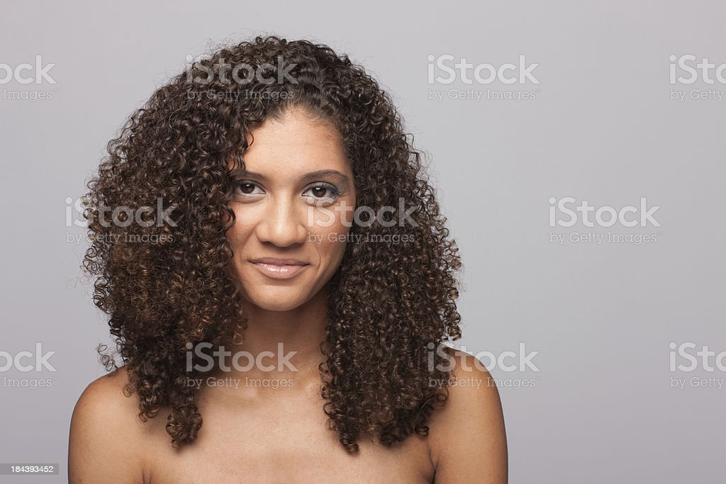 Young beautiful woman of african descent stock photo