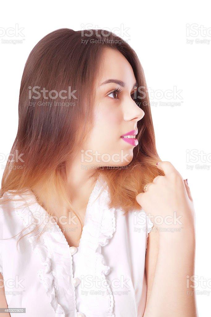 Young beautiful woman portrait stock photo
