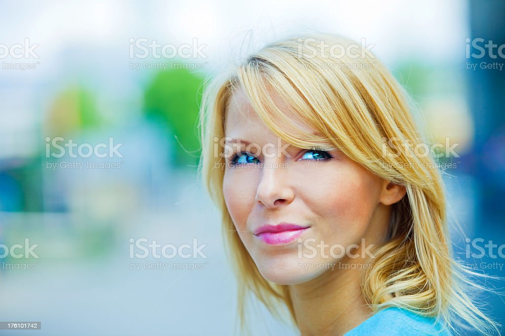 Young beautiful woman smiling royalty-free stock photo