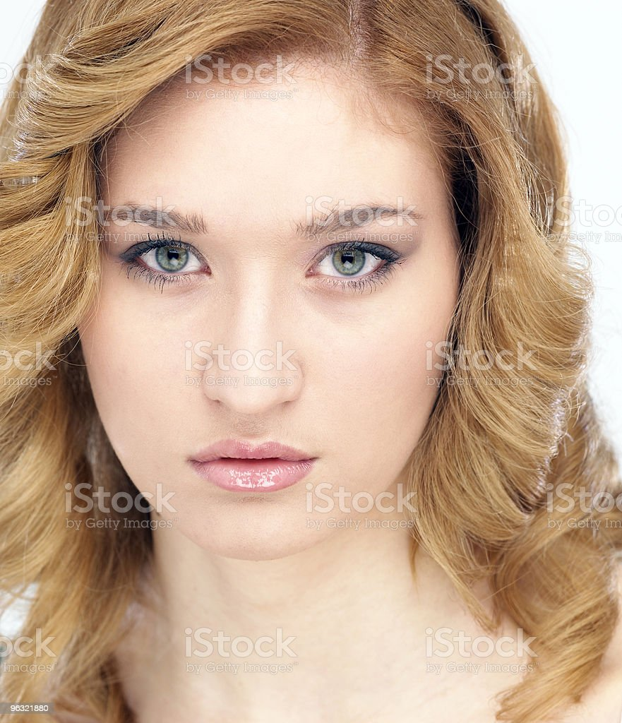 Young beautiful woman with blond hair royalty-free stock photo