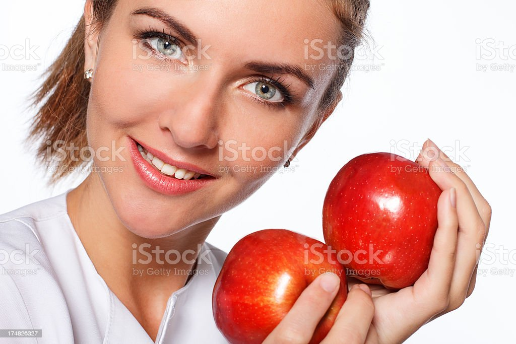 young beautiful woman with fruits royalty-free stock photo