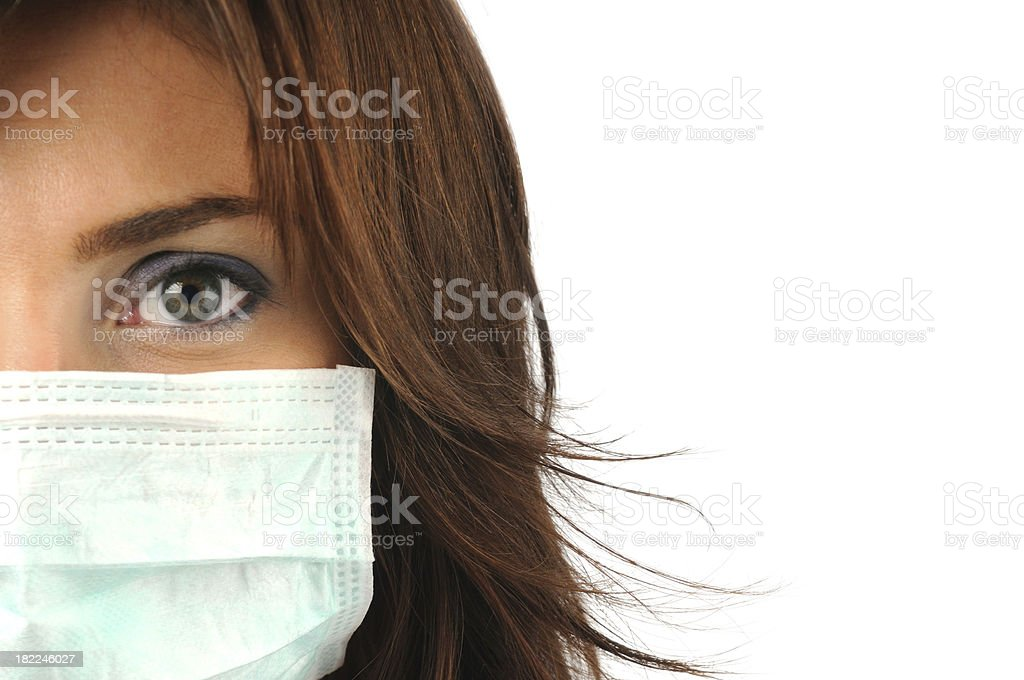 Young Beautiful Woman With Mask stock photo