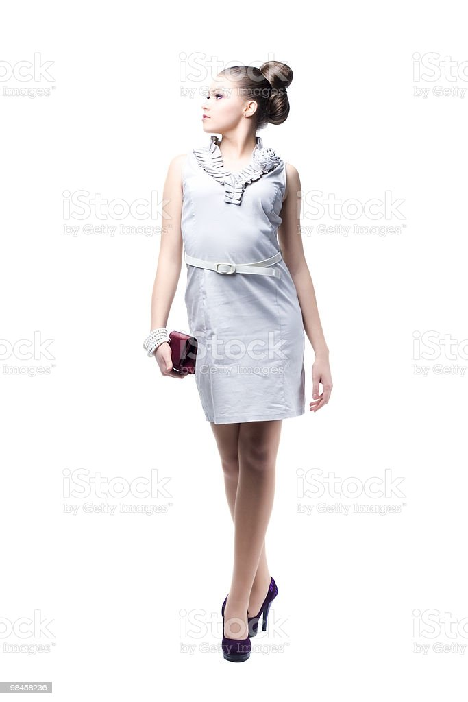 Young beautiful women with her handbag royalty-free stock photo