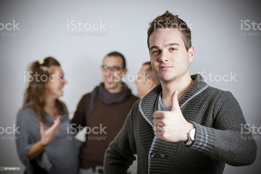 Young beauty male posing in front of camera royalty-free stock photo