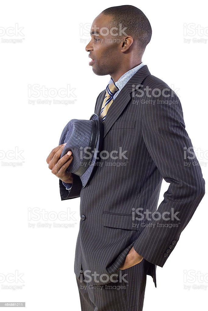 Young Black Businessman Grossed Out Facial Expression royalty-free stock photo