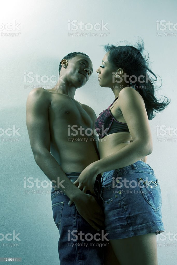 Young black couple Man and woman in love royalty-free stock photo