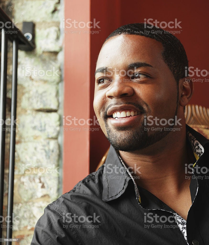 Young Black Man Smiling stock photo