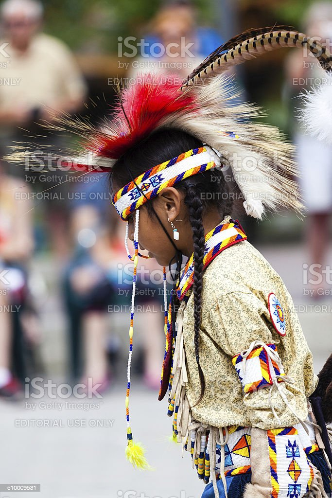 Young Blackfoot Indian Dancer stock photo