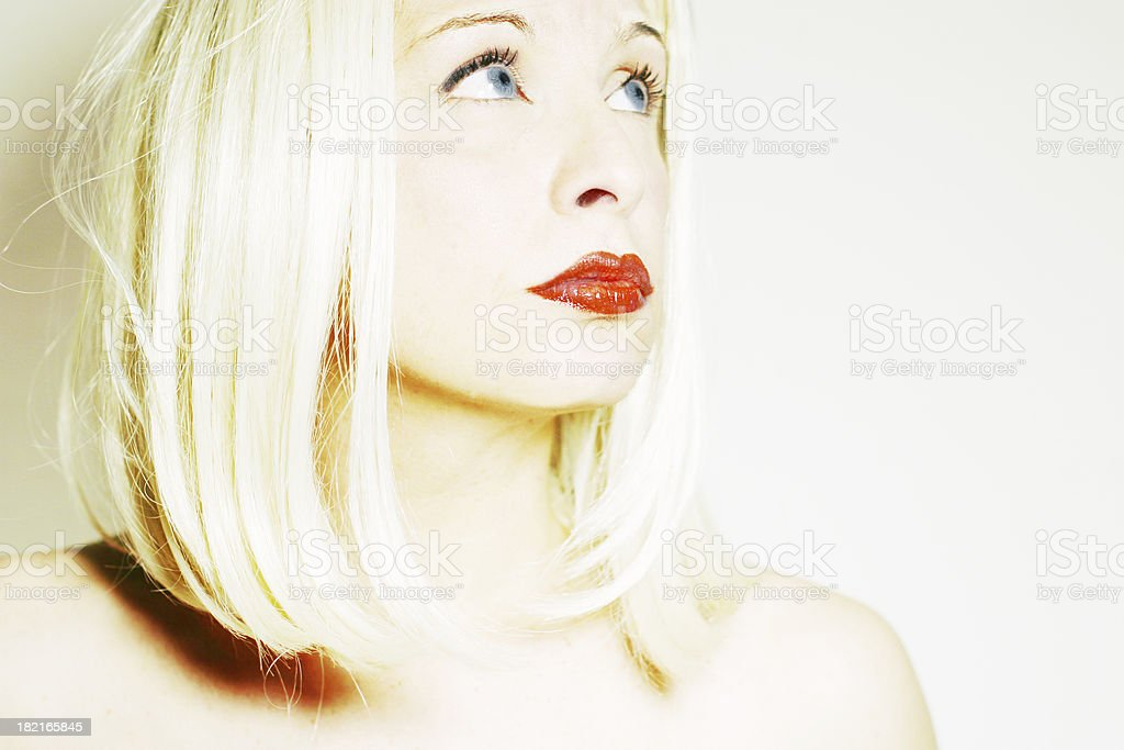 Young blond shot in high key royalty-free stock photo