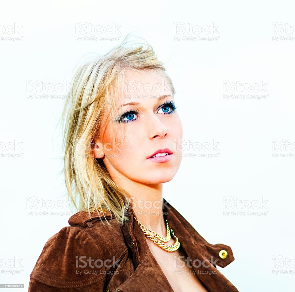 Young blond woman portrait royalty-free stock photo