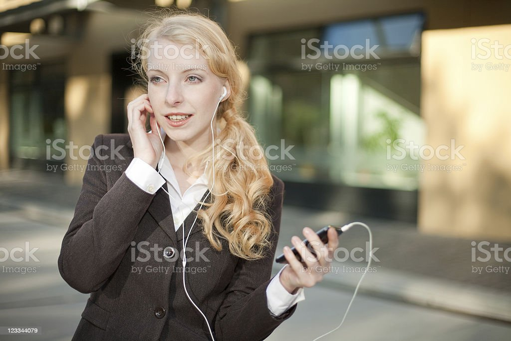 Young Blonde Business Woman royalty-free stock photo