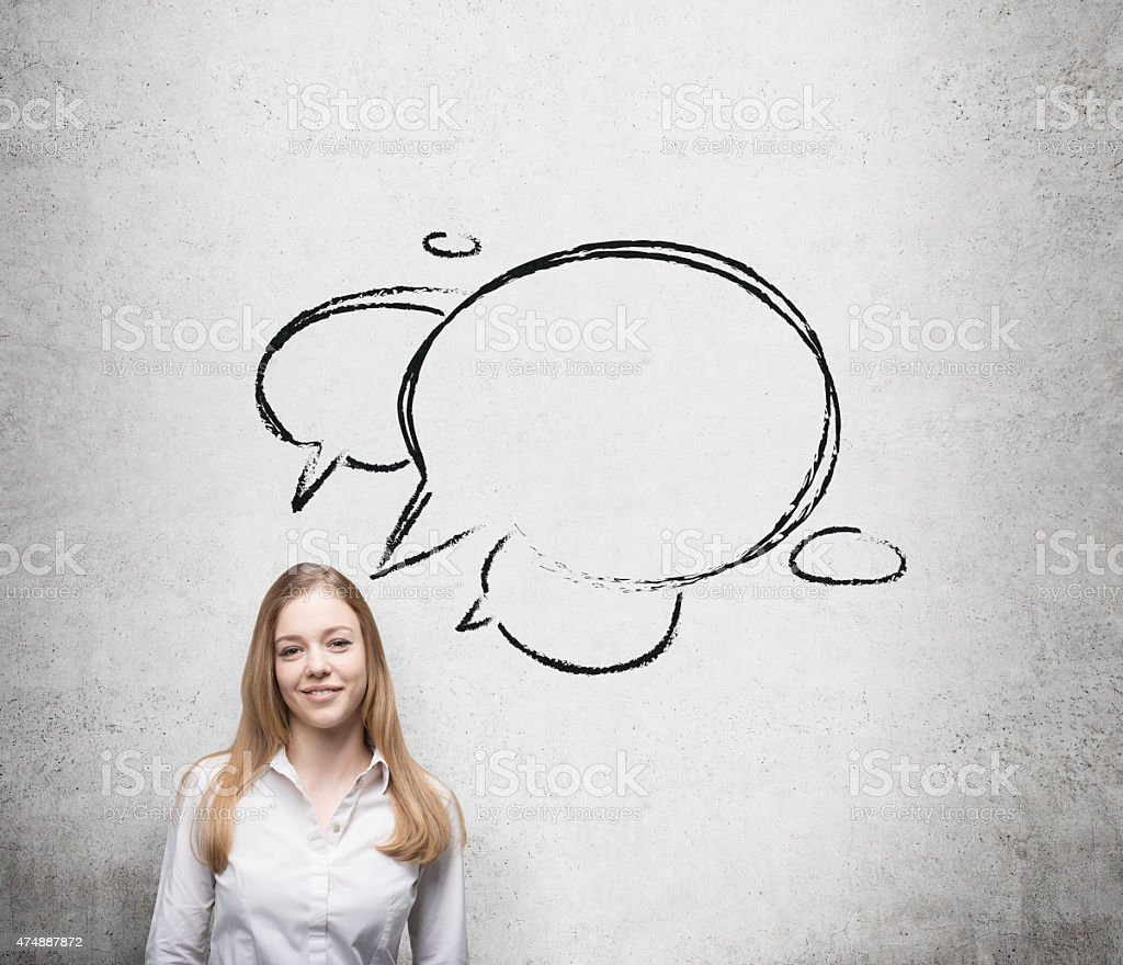 Young blonde business woman stock photo