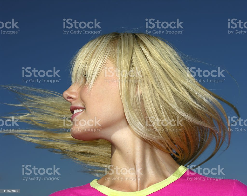 young blonde stock photo