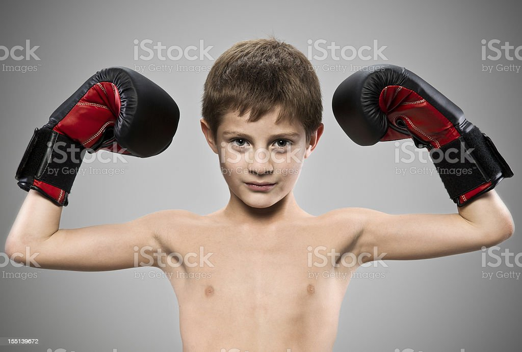Young boxer (real people) royalty-free stock photo