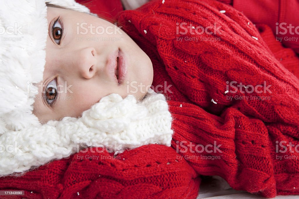 Young boy and girl laying outdoors royalty-free stock photo