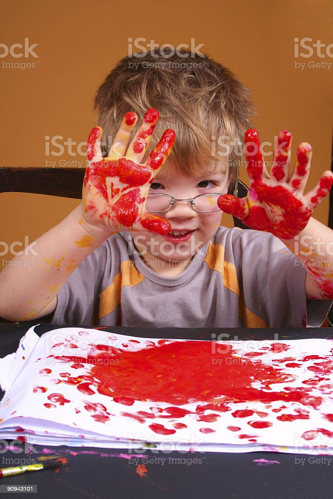 young boy - artist stock photo