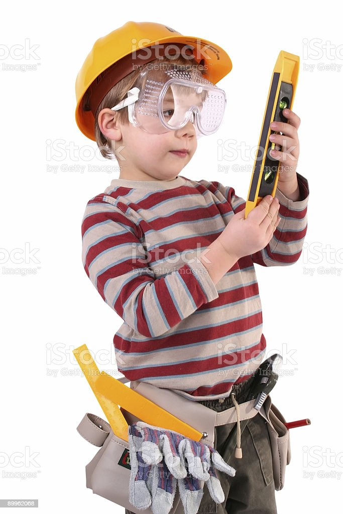 Young Boy Builder royalty-free stock photo