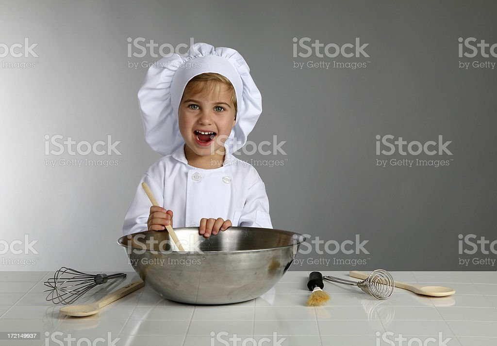 young boy chef3 royalty-free stock photo