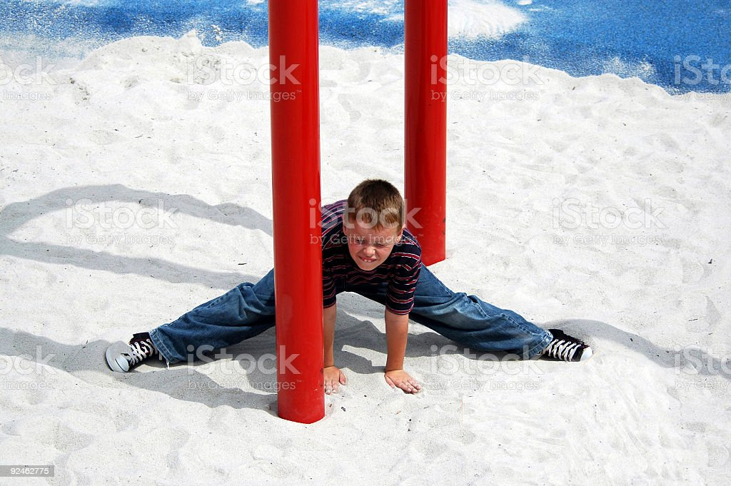 Young Boy Doing Splits royalty-free stock photo