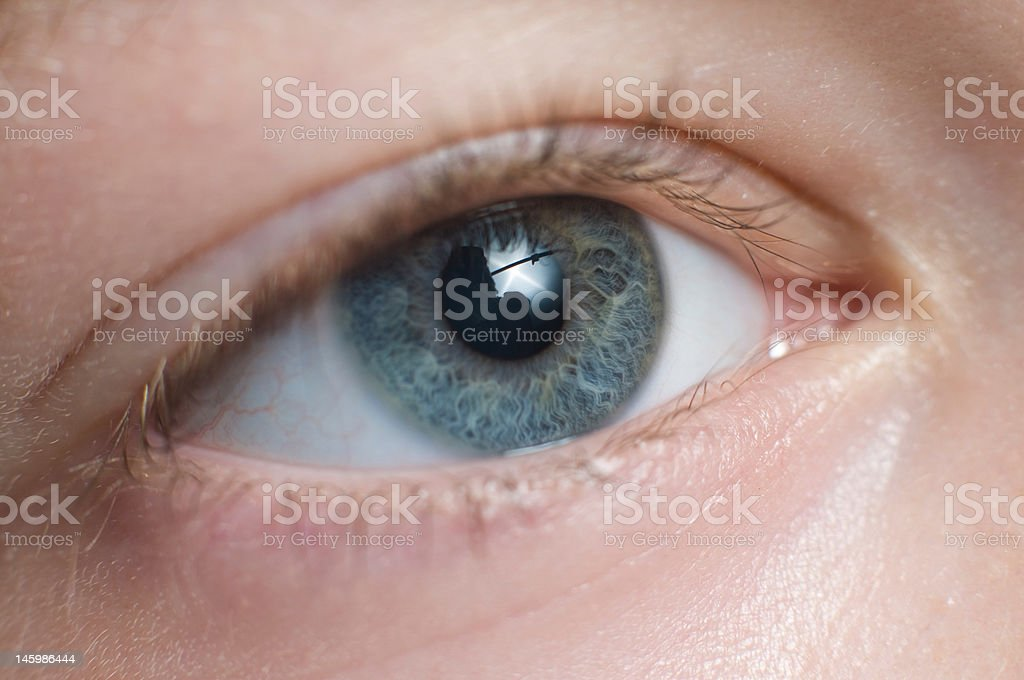 Young boy eye macro close up royalty-free stock photo