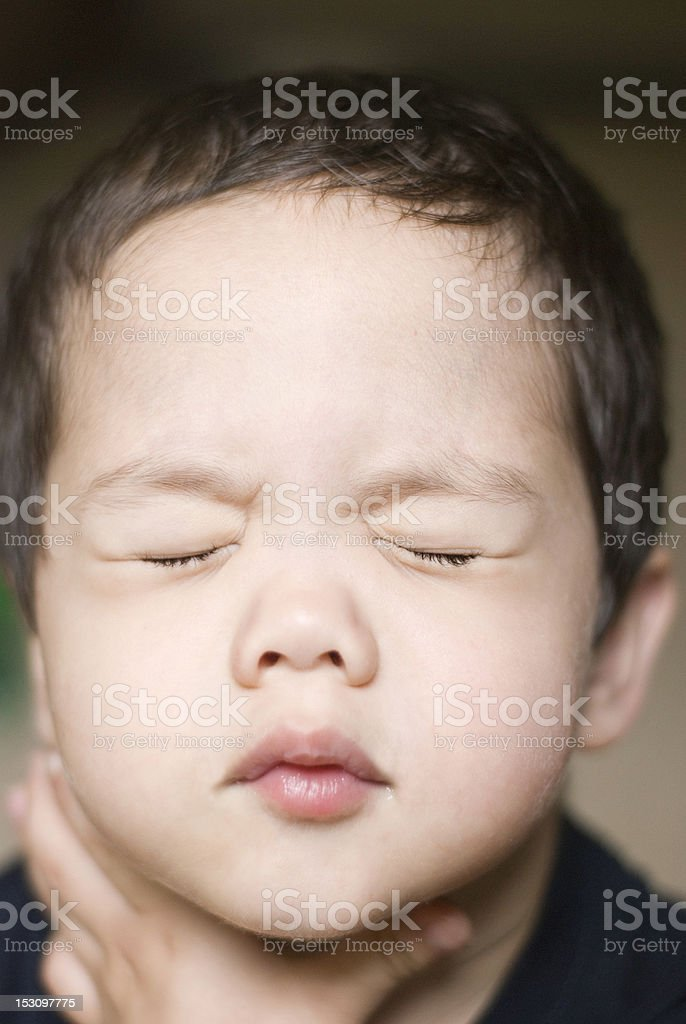 Young Boy in Distress stock photo