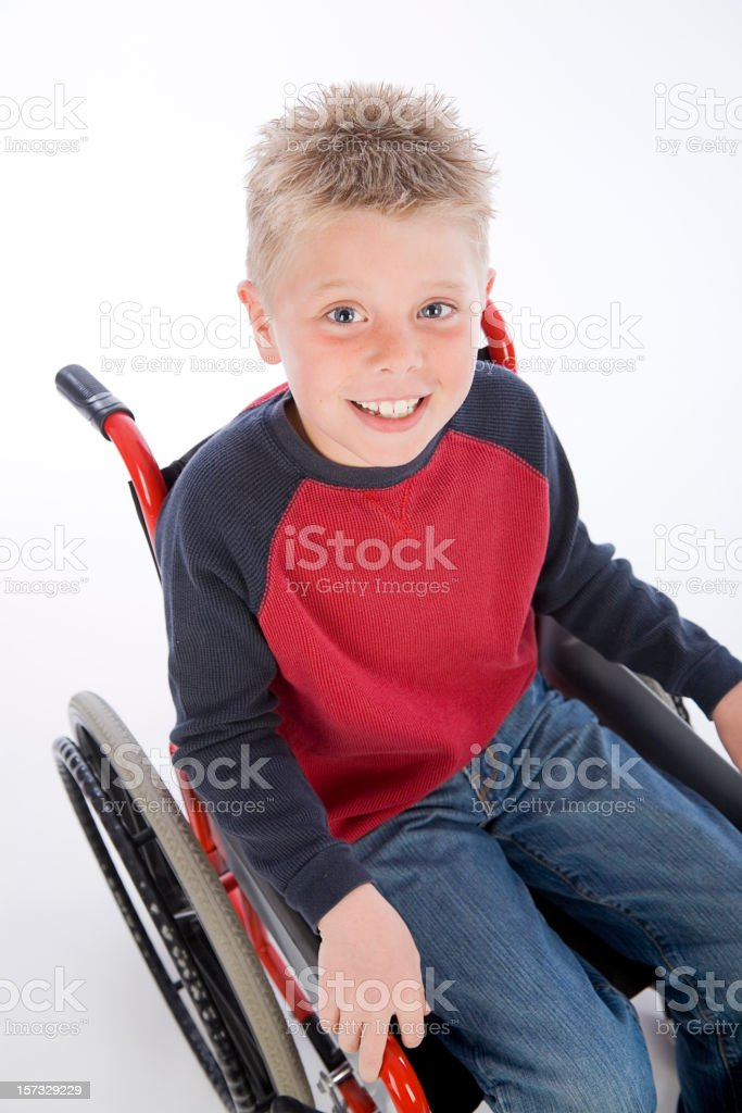 Young Boy in Wheelchair royalty-free stock photo