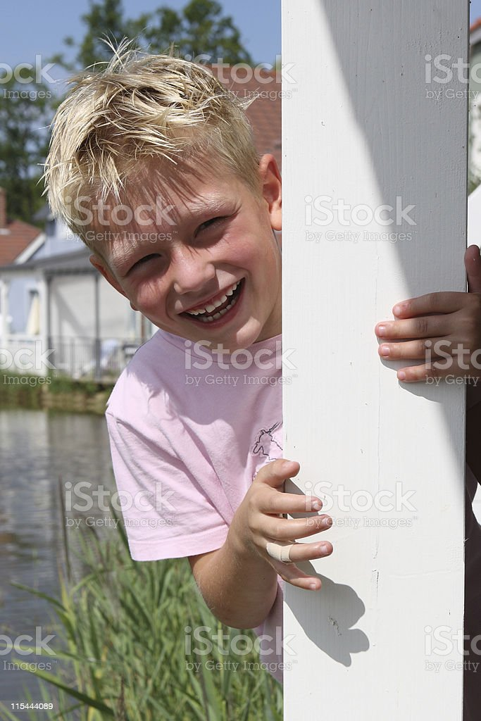 Young Boy Laughing royalty-free stock photo