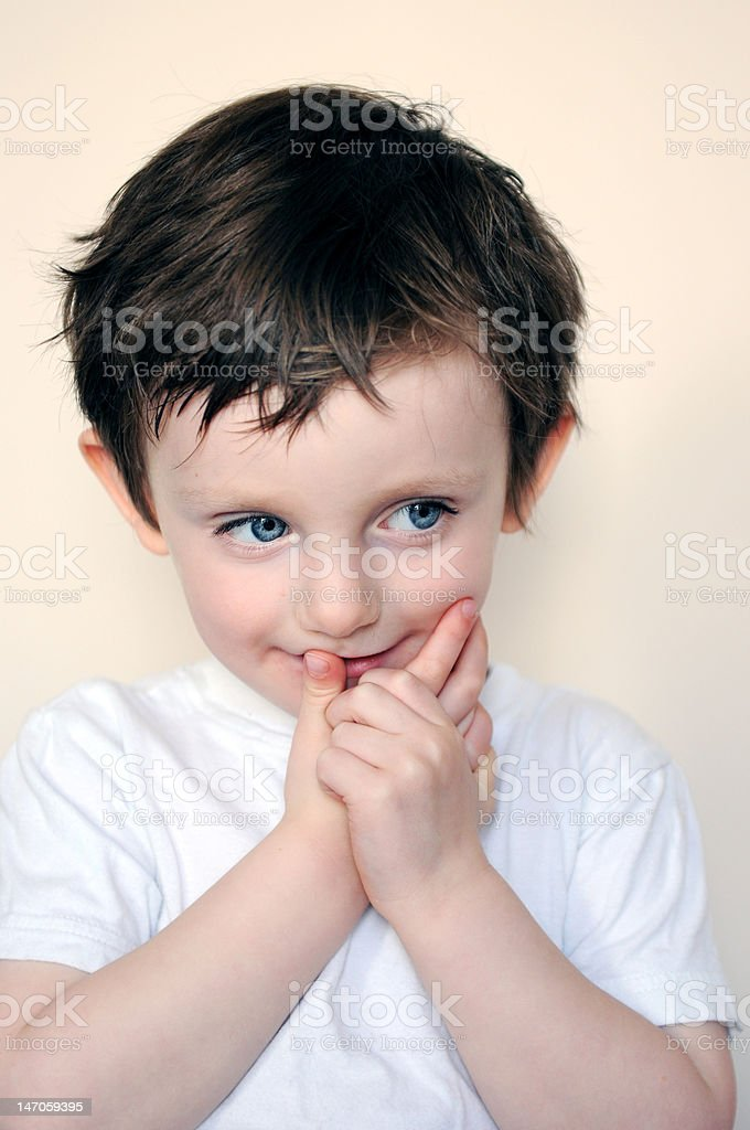 Young boy looking away royalty-free stock photo