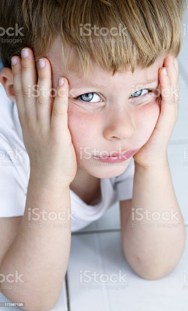 Young boy of three years old stock photo