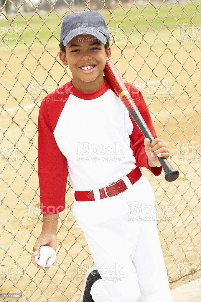 Young Boy Playing Baseball stock photo