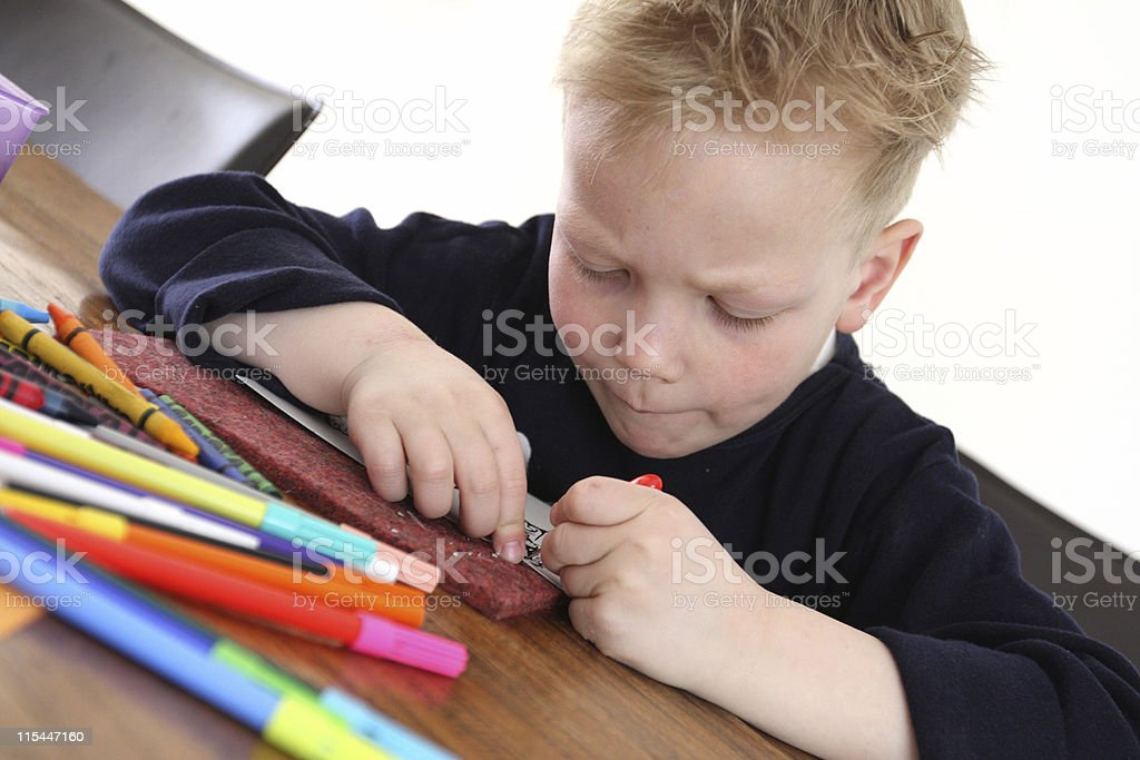 Young Boy Playing royalty-free stock photo