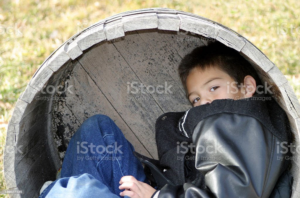Young Boy Playing stock photo