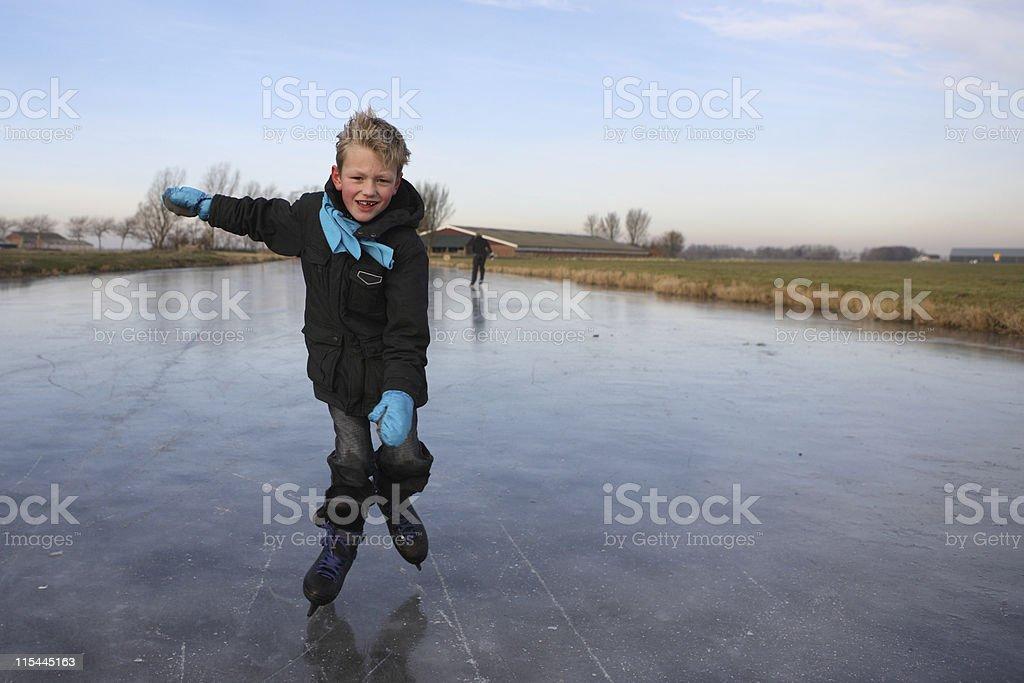 Young Boy Skating Fun royalty-free stock photo
