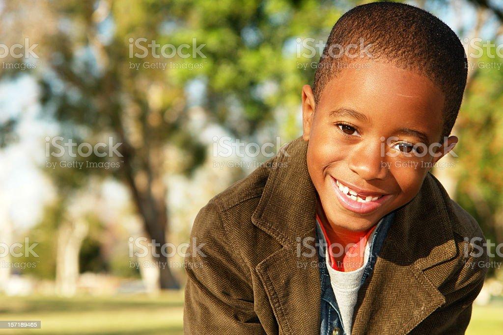 Young Boy Smiles Big Smile royalty-free stock photo