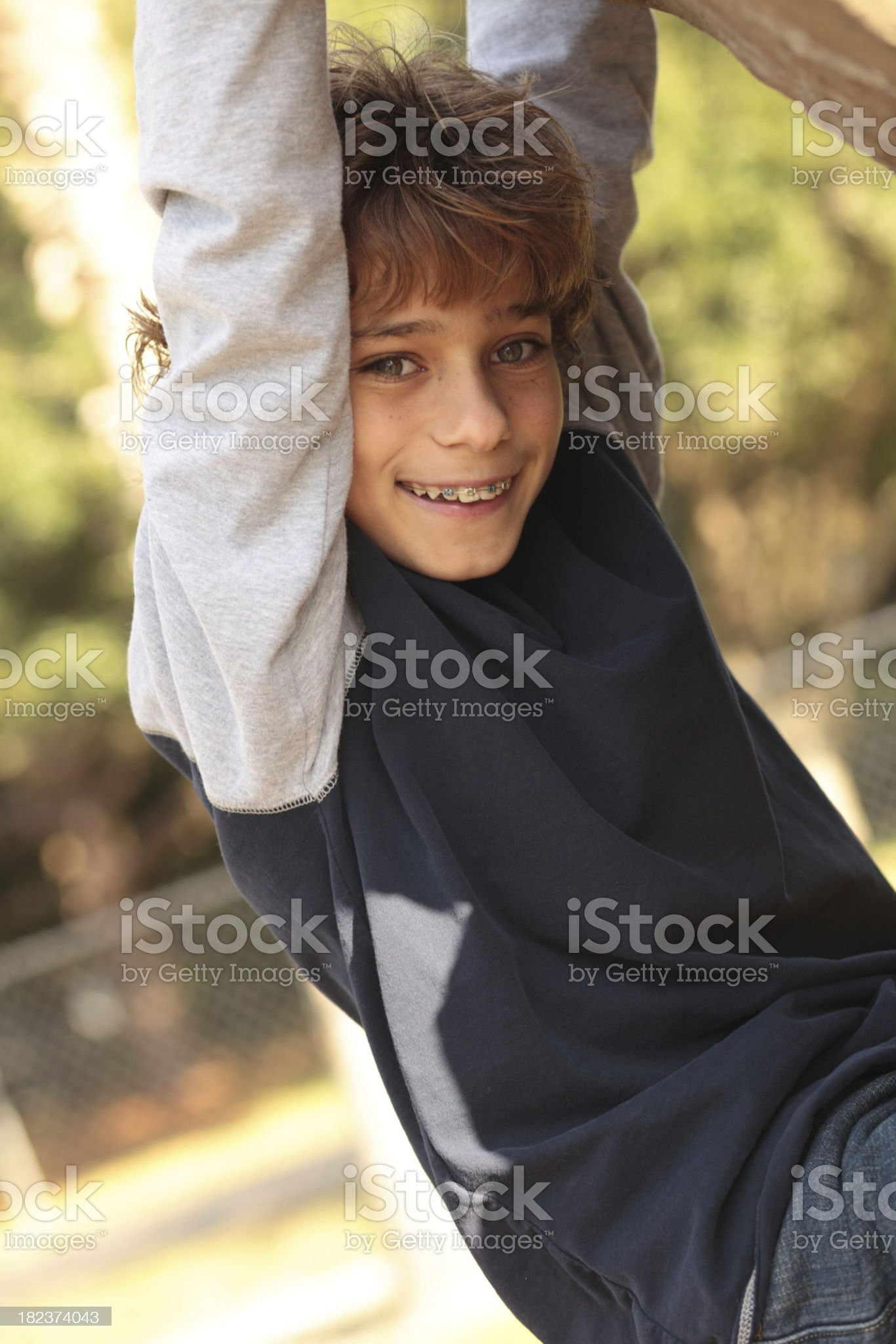 Young boy smiling royalty-free stock photo