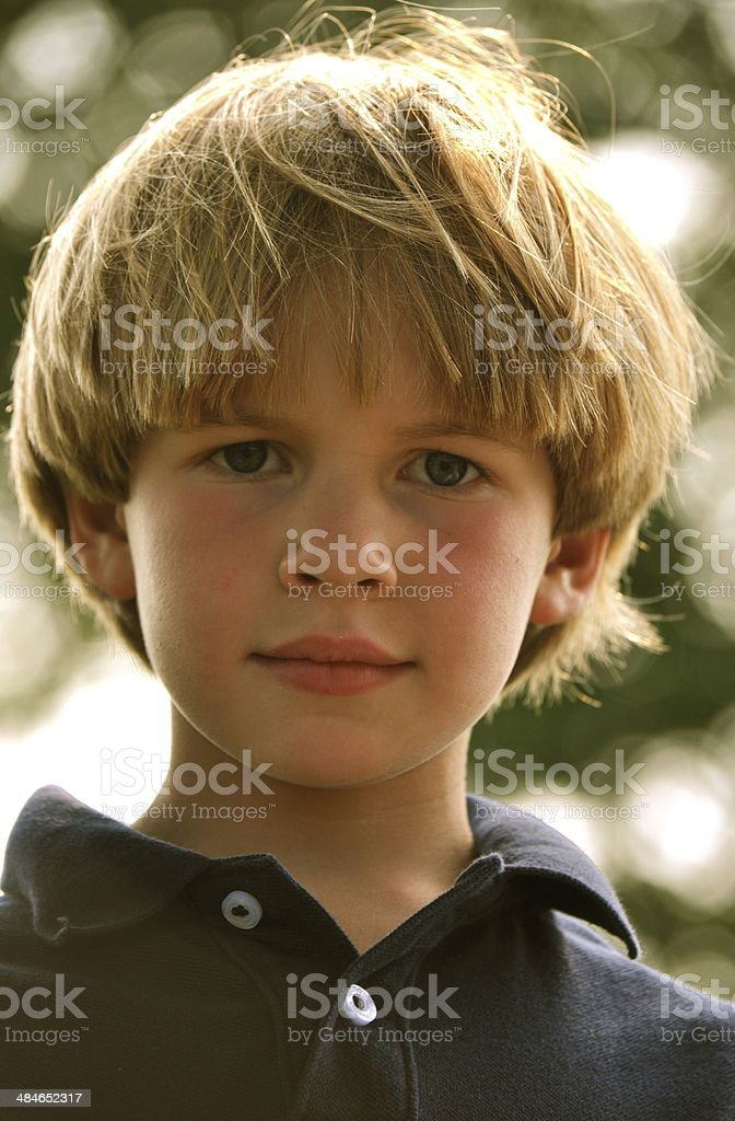 young boy summer's day stock photo