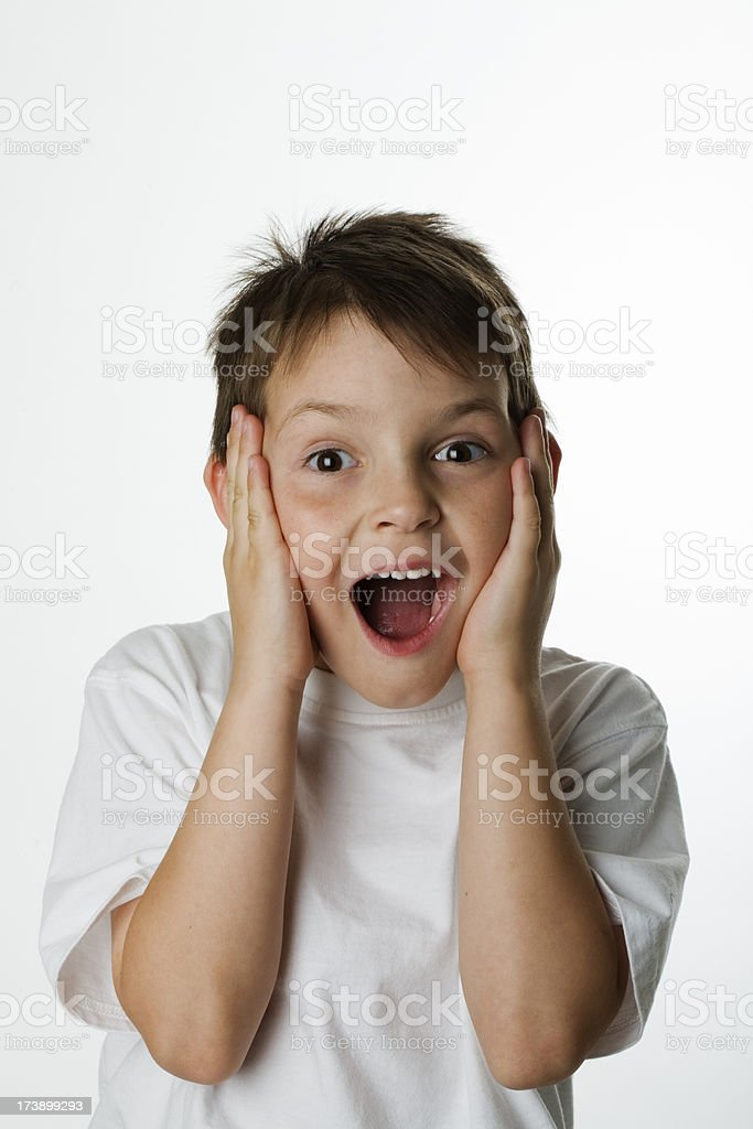 Young Boy Surprised royalty-free stock photo