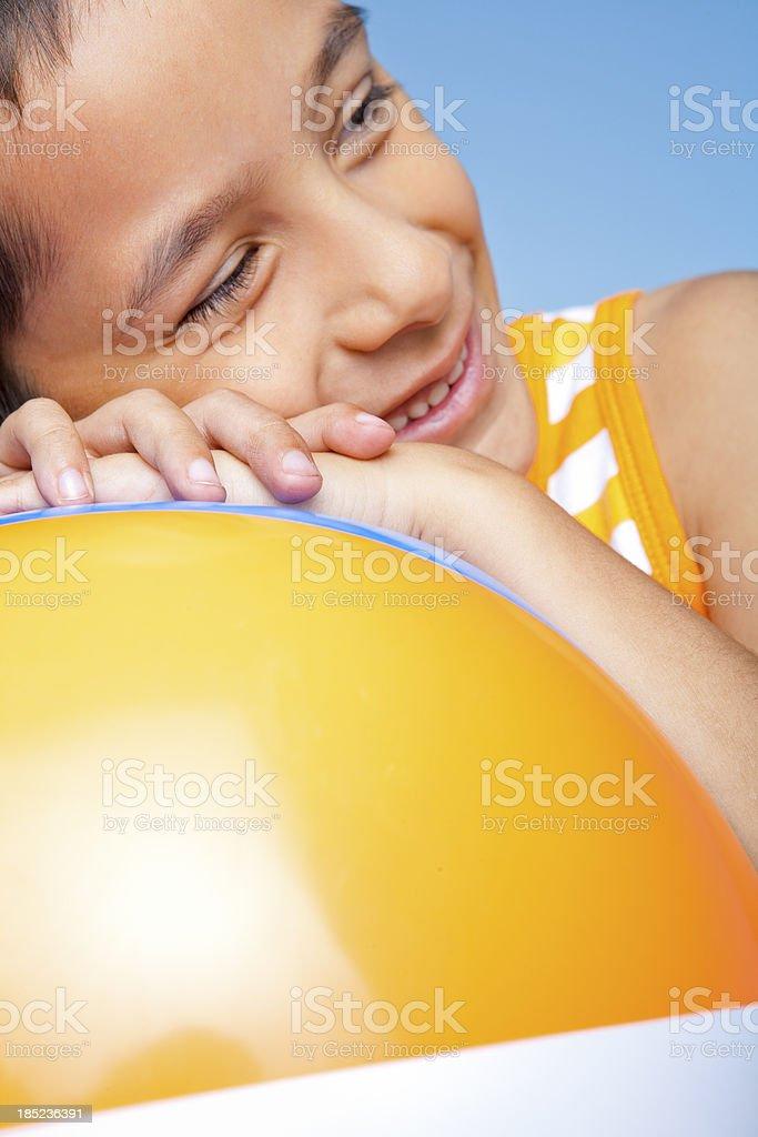 Young boy taking a break royalty-free stock photo