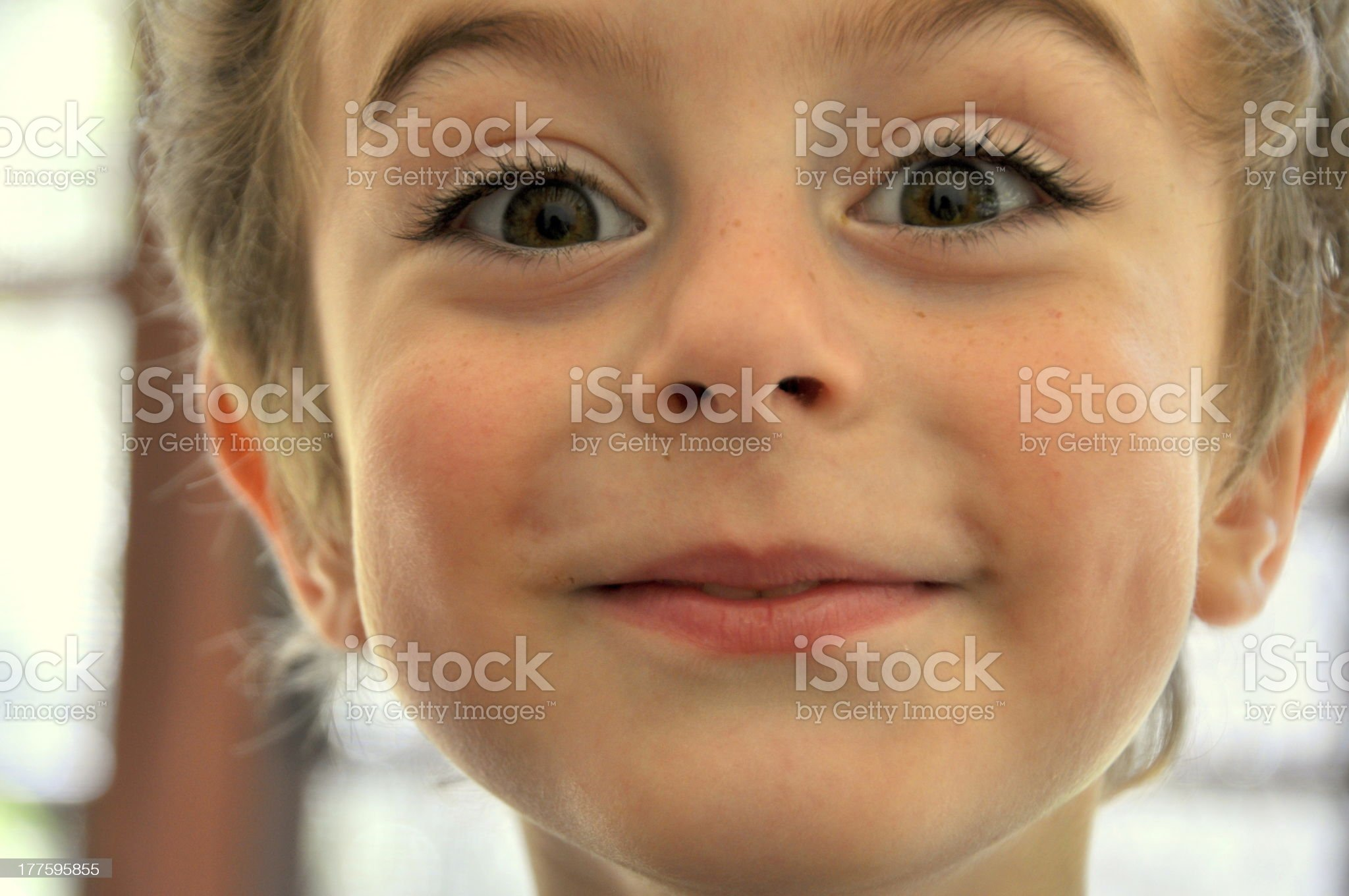 Young Boy with a surprised facial expression. royalty-free stock photo