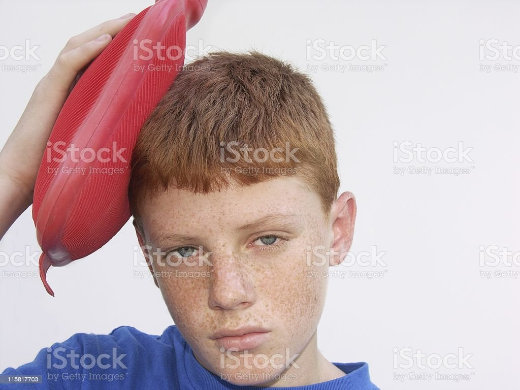 Young Boy With Headache royalty-free stock photo