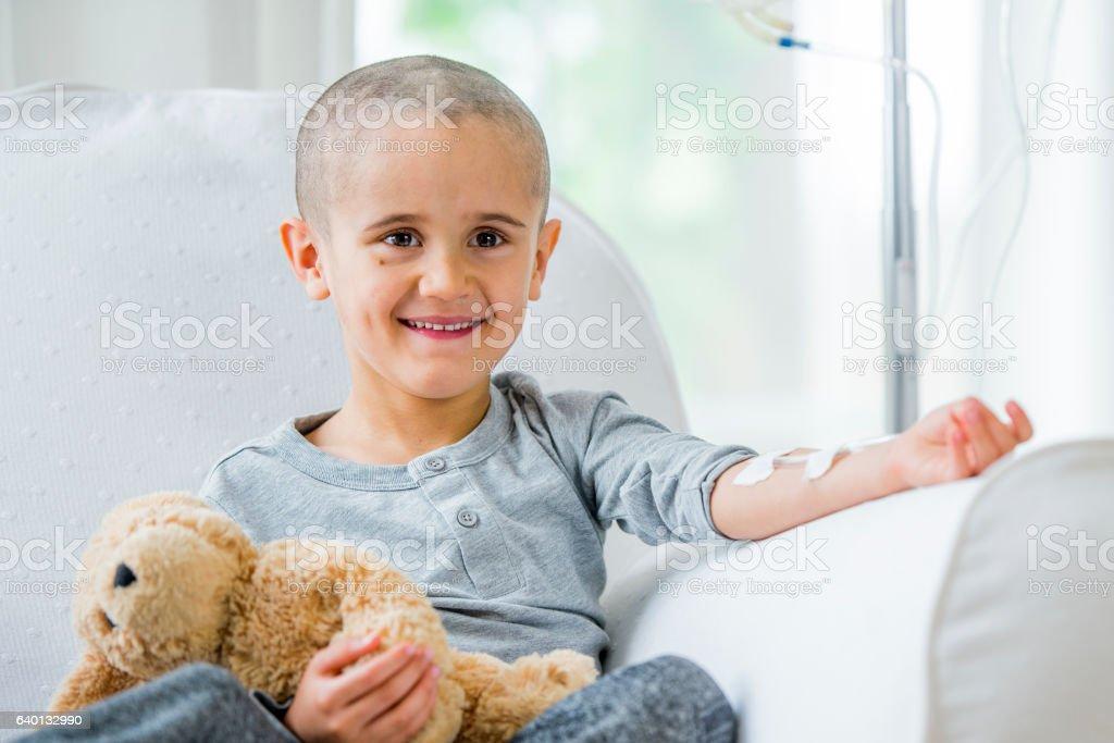 Young Boy With Leukemia stock photo