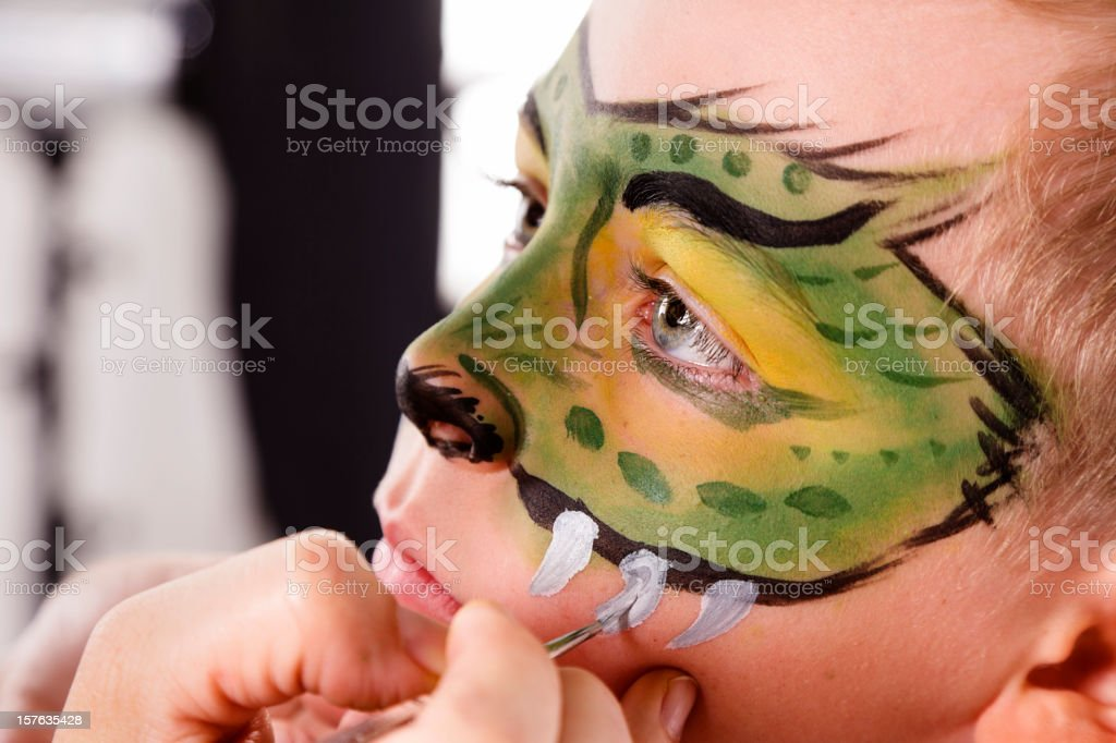 Young Boy with Painted Face stock photo