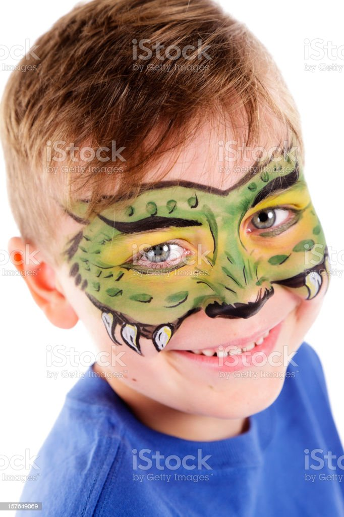 Young Boy with Painted Face royalty-free stock photo