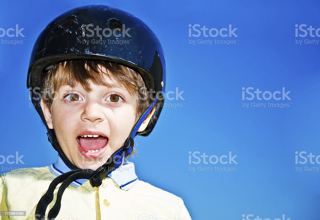 Young Boy With Protective Sports Helmet royalty-free stock photo
