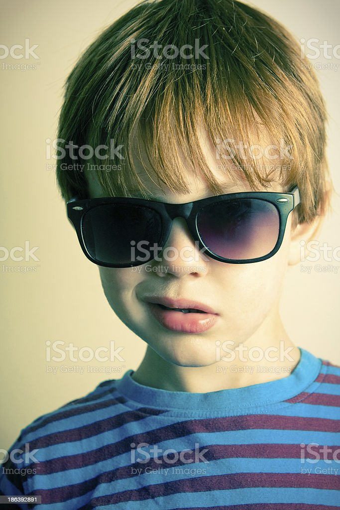 Young boy with shades royalty-free stock photo