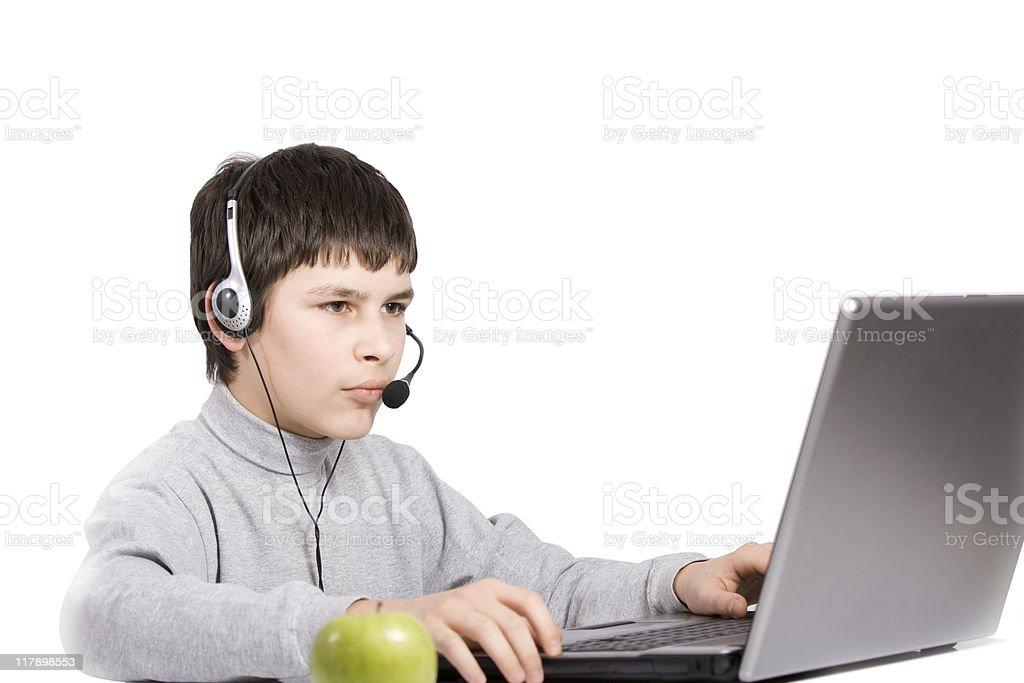 young boy with the notebook royalty-free stock photo